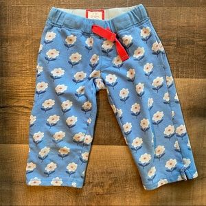 Mini Boden Blue Floral Sweatpants